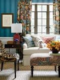 Thibaut Brittany Stripe Wallpaper in Teal